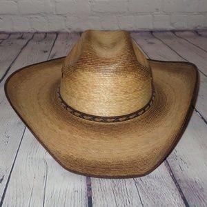 Men's Resistol Burned Brady Palm Cowboy Hat